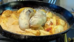 cuisiner boudin blanc petit plat d entre deux fêtes le boudin blanc dans une recette