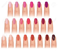 nail polish in different fashion colors nail care set manicured