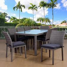 Atlantic Outdoor Furniture by Atlantic Barbados 9 Piece Rectangular Patio Dining Set Grey