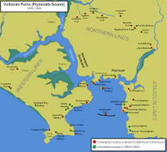 Sound Map Plymouth Sound Defences Castles Forts And Battles