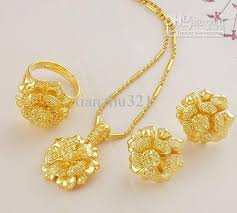 gold necklace womens images Wholesale part women 39 s jewelry set yellow gold filled necklace jpg