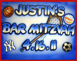 bar mitzvah sign in boards airbrush new york party artz sign in boards
