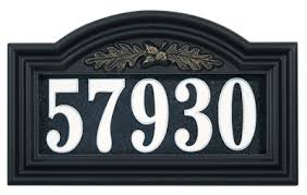 Lighted House Number Sign Address Plaques And Numbers Wall Lawn Hanging Signs