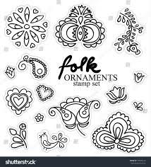 handdrawing folk ornaments stock vector 555849112