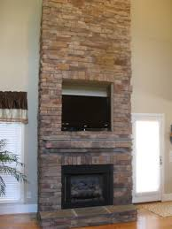 dry stack stone fireplace binhminh decoration