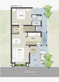 Bungalow Ground Floor Plan by Overview Sahaj Bungalows At Moreiya Ahmedabad Residential