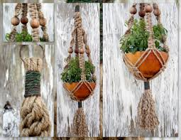 Macrame Home Decor by Forest Wood Handmade Natural Jute Macrame Plant Hanger Flickr