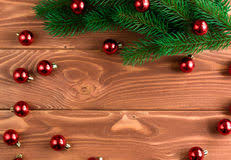 Soft Board Decoration For New Year by Christmas Fir Tree With Decoration On Dark Wooden Board Soft Fo