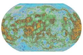 Us Map Topography Nasa Usgs Publish Topographical Map Of Mercury U2022 The Register