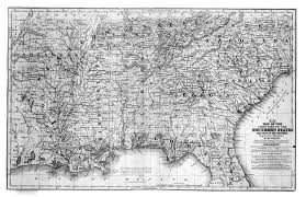 Southern States Of America Map by Digital History