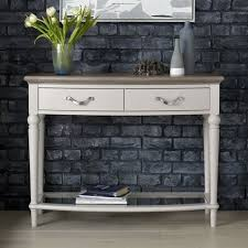 Grey Console Table Tuscany Grey Washed Oak Soft Grey Console Table