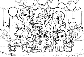 coloring pages with ponies coloring home