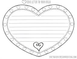 love letter to your child valentine u0027s day printable
