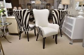 Dining Room Furniture For Sale Set Of Eight Zebra Stenciled Cowhide Dining Chairs For Sale At 1stdibs