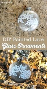 make some painted lace glass ornaments the graphics