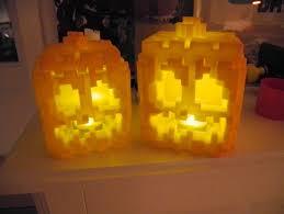 led pumpkin tea lights minecraft pumpkin for led tea light abs by hjorthmobile thingiverse