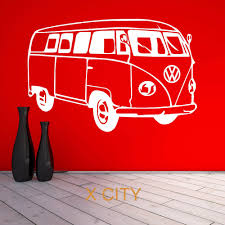 volkswagen bus art vw camper van famous bus car wall art sticker vinyl transfer decal
