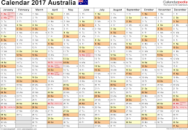 How Many Weeks In A Year by Australia Calendar 2017 Free Printable Excel Templates