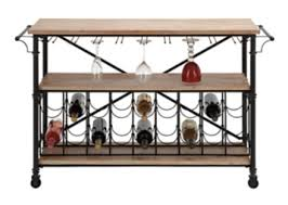 console table with wine storage wood and metal console table with wine storage kirklands