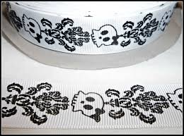 grosgrain ribbon by the yard 7 8 skull damask grosgrain ribbon 5 yard length by mamatique on