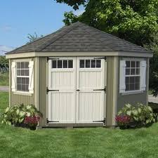 Backyard House Shed by Storage Sheds You U0027ll Love Wayfair