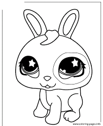 littlest pet shop cute bunny coloring pages printable