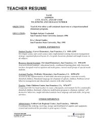 how to write a resume for teachers free sample resume template