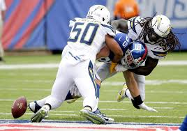 chargers at giants in game los angeles chargers