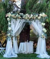 How To Decorate A Backyard Wedding Best 25 Tulle Wedding Decorations Ideas On Pinterest Tulle