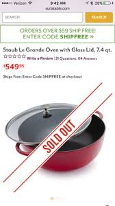 staub black friday 7 4 qt staub le grande chef u0027s pot on sale cookware dutch ovens