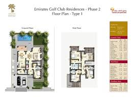 villa floor plan phase 2 floor plan live emirates golf club