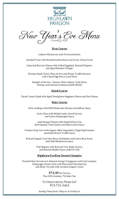 download holiday dinner menu template for free formtemplate