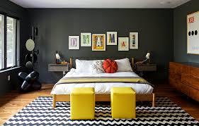 chambre gris et jaune chambre deco vintage gris jaune