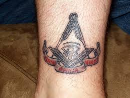 masonic tattoo on leg