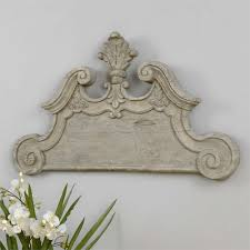 regal curved wood wall plaque provence chic