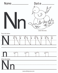 letter nn worksheet letter idea 2018