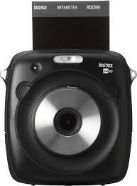 fujifilm instax square sq10 instant film camera black 600018496