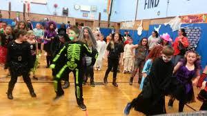elementary halloween dance party cha cha slide youtube