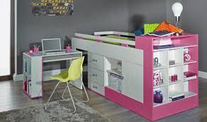 chambre enfant avec bureau lit combiné avec bureau et rangement vera lit surélevé enfant
