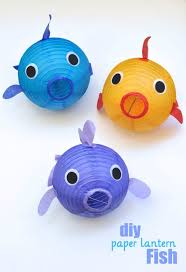 Under The Sea Centerpieces by Paper Lantern Fish Diy Craft Tutorial Perfect Decoration Idea For