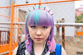 spiked headband spike headband rainbow hair in harajuku tokyo fashion news