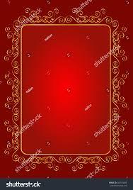 Blank Invitation Cards Elegant Gold Red Maroon Color Blank Stock Illustration 263533889