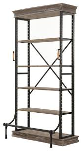 Single Shelf Bookcase Irondale Braxton Single Bookcase Industrial Bookcases By The