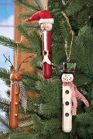 clothespin ornaments set of 3 tree decor