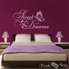 sweet dreams butterflies flowers vinyl art home wall quote zoom