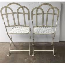 Garden Bistro Chairs Vintage Garden Bistro Chairs Pair Chairish