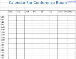 Meeting Schedule Template Excel Conference Room Scheduling Calendar Excel Template Email