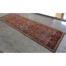 Wide Runner Rug Antique Kurdish Tribal Knotted Wide Runner Rug 4 7 14 11