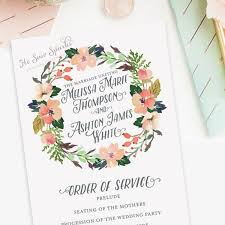 wedding program design papers and ink top wedding program templates gurmanizer