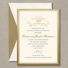 anniversary party invitations gold foil border anniversary party invitation all invitations